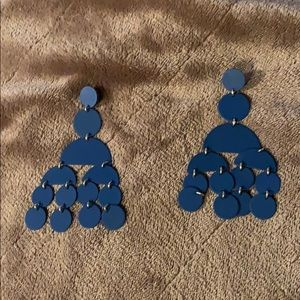 J. Crew Navy Statement Earrings